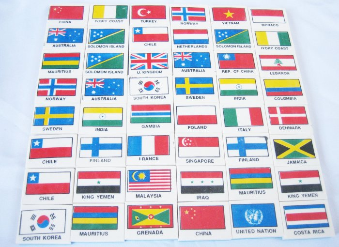 48pcs Different Country Flag Eraser Great Collection