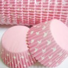 Bulk 1000pcs Pink Cake Cup Printed with White Dove US Standard Size