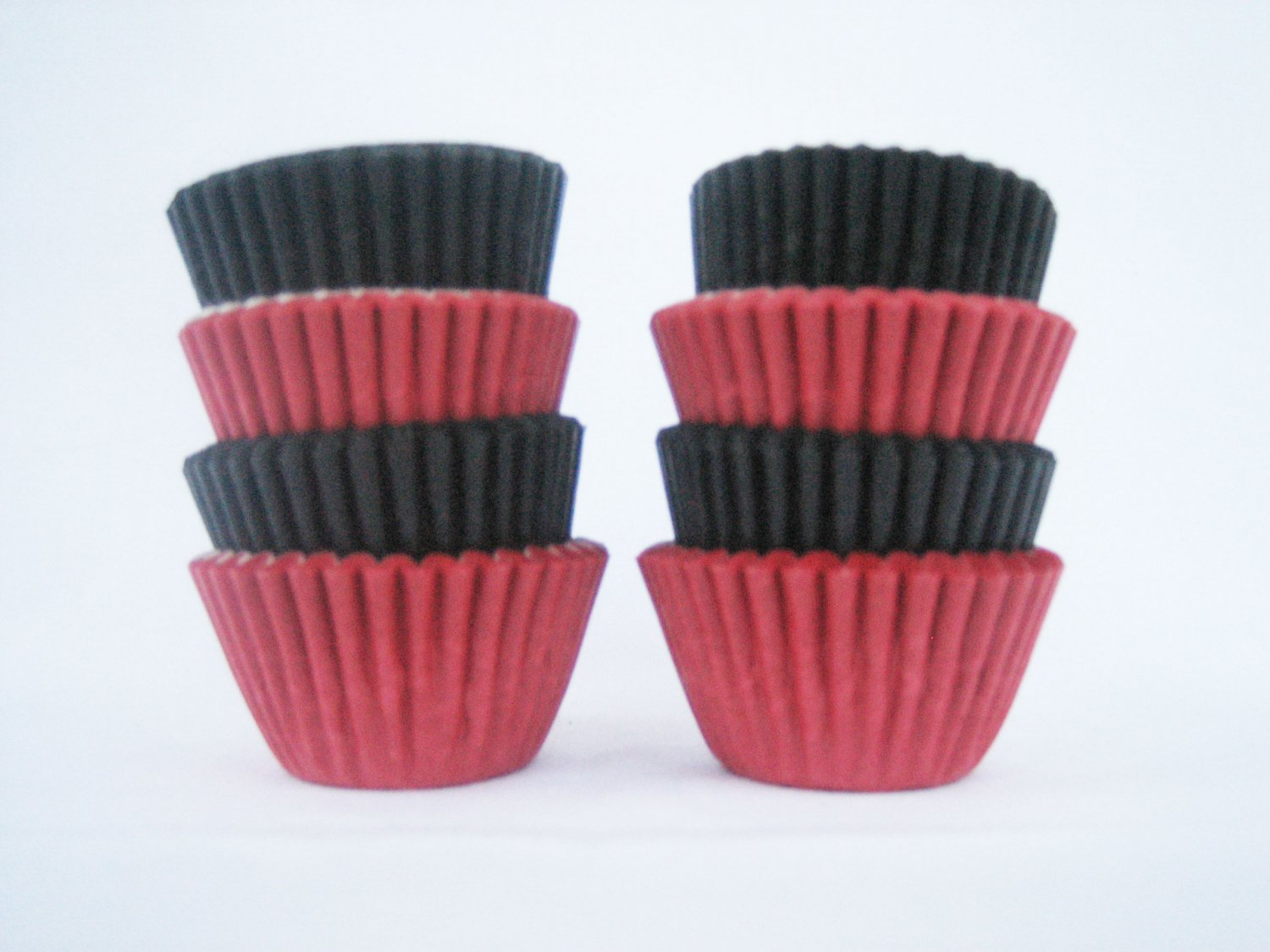 1000pcs Black and Red Mini Paper Cake Cup for Candy/Cookies/Petite/Cake 6cm
