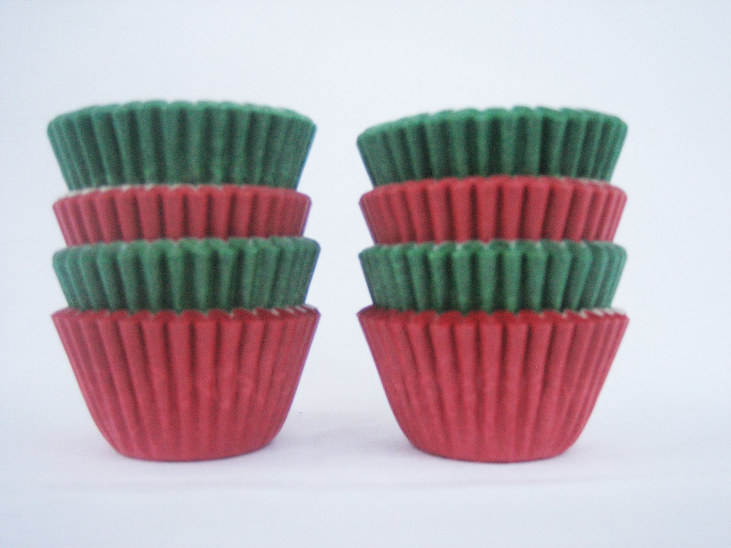 1000pcs Green and Red Mini Paper Cake Cup for Candy/Cookies/Petite/Cake 6cm
