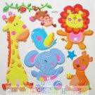 Big Puffy Sticker Baby Animal for Furniture Wall Nursery Kid Room Decoration DPT023