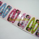 Wholesale 60pcs Dora Girl Snap Hair Clip 4.5cm (sitting_hole)