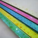 50pack X 90strips Pastel Heart Pearlescent Origami Lucky Wishing Star Paper Strips