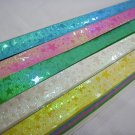50pack X 90strips Pastel Star Pearlescent Origami Lucky Wishing Star Paper Strips