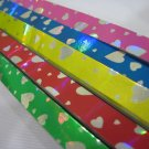 50pack X 90strips Silver Heart on Colour Paper Origami Lucky Wishing Star Paper Strips