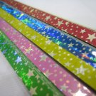 50pack X 90strips Silver Star on Colour Paper Origami Lucky Wishing Star Paper Strips