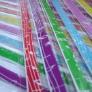 100 strips Music Note Mix Colour Origami Folding Lucky Star Paper Strips