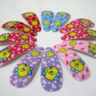 Wholesale 60pcs Smiley Girl Snap Hair Clip 4.5cm (bow_n/hole)