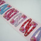 Wholesale 60pcs Barbie Girl Snap Hair Clip 4.5cm (butterfly_n/hole)