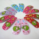Wholesale 60pcs Watermelon Girl Snap Hair Clip 4.5cm (n/hole)
