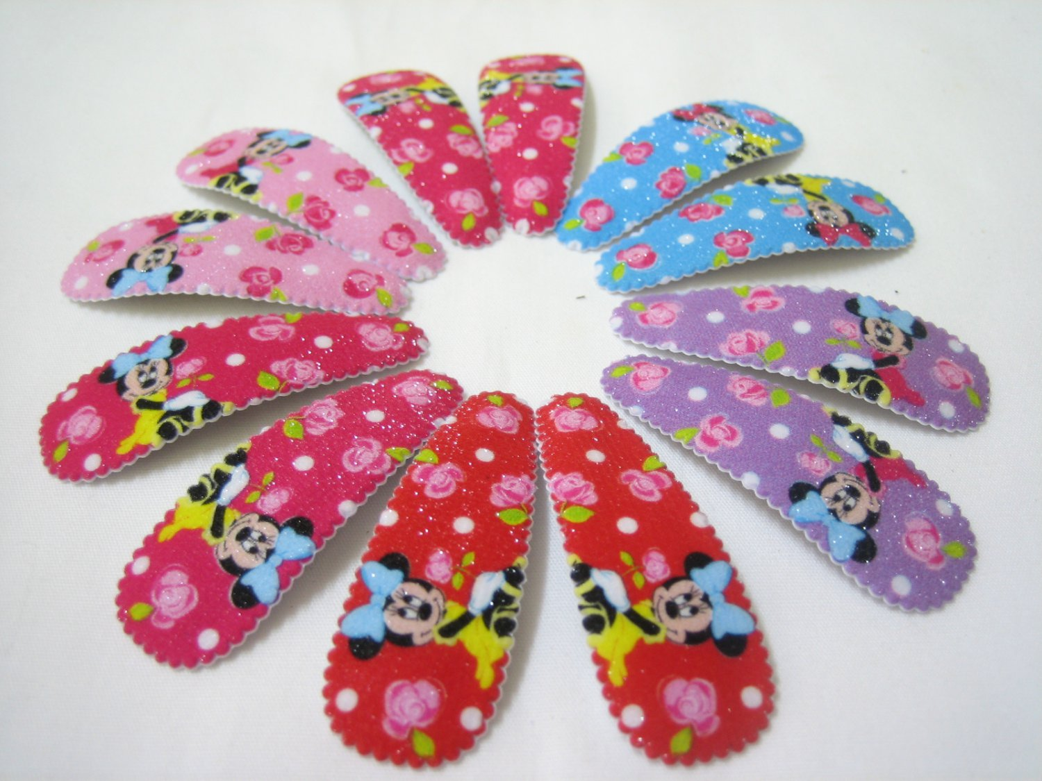 Wholesale 60pcs Minnie Girl Snap Hair Clip 4.5cm (roses_nhole)