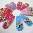 Wholesale 60pcs Minnie Girl Snap Hair Clip 4.5cm (rose_hole)