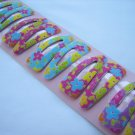 Wholesale 60pcs Flower Petunia Girl Snap Hair Clip 4.5cm (hole)