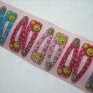 Wholesale 60pcs Smiley Girl Snap Hair Clip 4.5cm (daisy_hole)