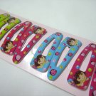Wholesale 60pcs Dora Girl Snap Hair Clip 5.5cm (Strawberry_hole)
