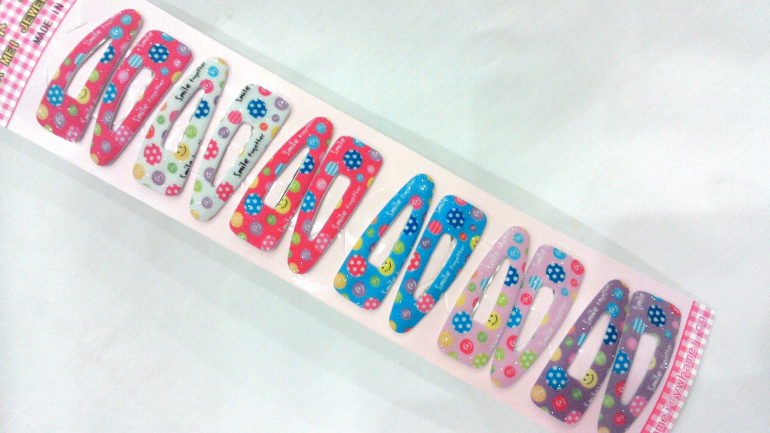 Wholesale 60pcs Smiley Smile Together Girl Snap Hair Clip 4.5cm (hole)