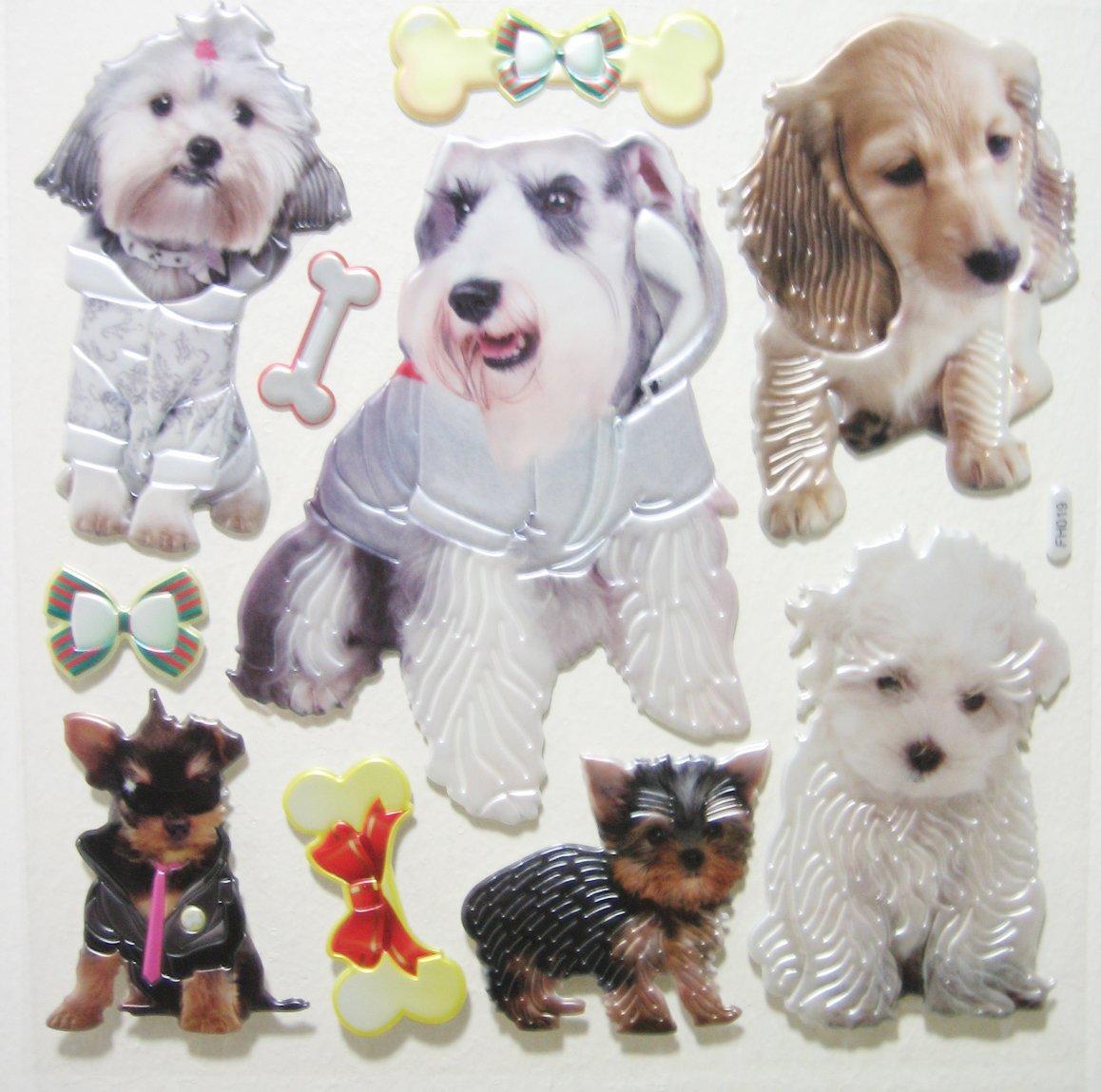 Big 3D REALISTIC DOG PUPPY Wall Sticker Kid Room Decoration