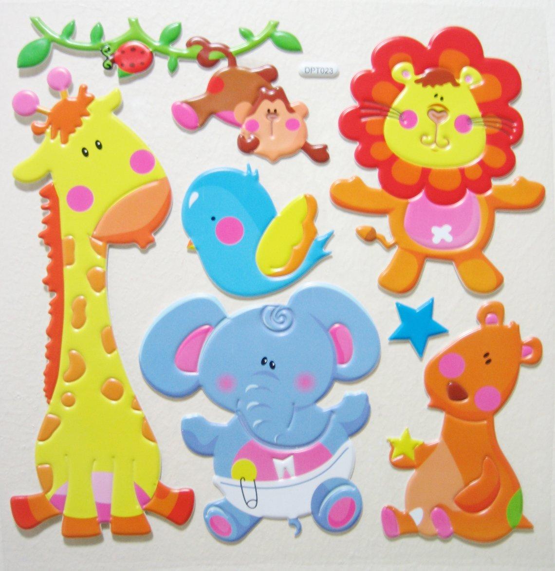 Big 3D BABY ANIMALS Wall Sticker Kid Room Decor