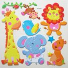 Big 3D BABY ANIMALS Wall Sticker Kid Room Decor