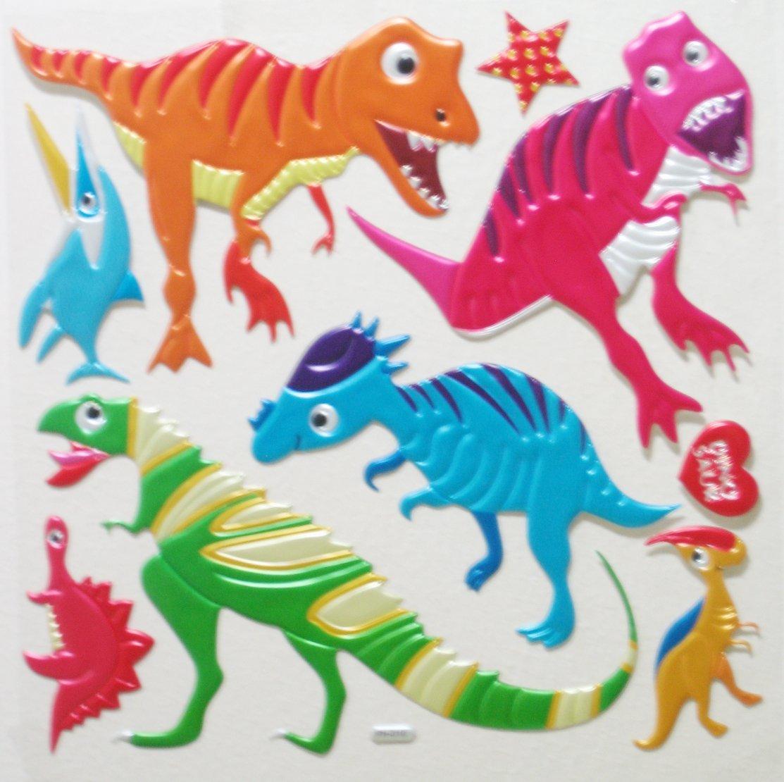 Big 3D Dinosaur 2 GARDEN Wall Sticker Kid Room Decor