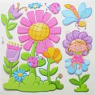 Big 3D FLOWER GARDEN Wall Sticker Kid Room Decor