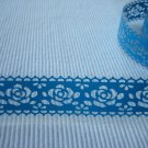1 roll 24mm x 1m PVC Lace Tape  Roses Design Blue Colour