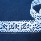 1 roll 24mm x 1m PVC Lace Tape  Roses Design White Colour