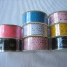 8rolls 24mm x 1m PVC Lace Tape Assorted Design and Colour
