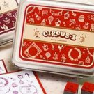 DIY Korean Foam and Rubber Stamp Circus1 12pcs set in Tin Box