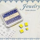 DIY Korean Foam and Rubber Stamp Jewelry 12pcs set in Tin Box