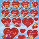 10 sheets BL066 Heart Shape Love Removable A4 Sticker