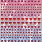 10 sheets BL309 Heart Shape Love Removable A4 Sticker