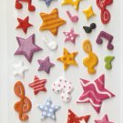 316B Cute Kawaii Assorted Star and Bow Small Puffy Sticker FREE SHIPPING