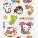 OK010b Cute Kawaii Kitty Small Puffy Sticker FREE SHIPPING