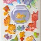 Fishy Wishy Small Puffy Sticker #L02d