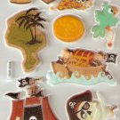 Pirate Quest Small Puffy Sticker #H03c