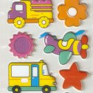 Transportation Small Puffy Sticker #H03d