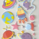 Outer Space Small Puffy Sticker #H03b