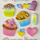 Small Puffy Sticker Cupcake #H11c