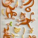 Monkey Around Small Puffy Sticker #H15b