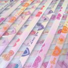 80 strips I LOVE U/JUST FOR U  Mix Colour Origami Folding Lucky Star Paper Strips 80A