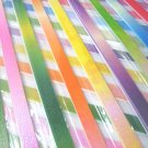 80 strips GALAXY PEARLESCENT Mix Colour Origami Folding Lucky Star Paper Strips 80A