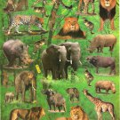 10 sheets BL634 Realistic Wild Animal Removable A4 Sticker