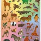 10 sheets Zoo Animal Sticker #TM0042