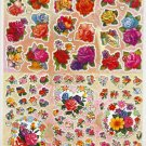 10 sheets H001-TM0040 Realistic Roses Sticker for Scrapbooking