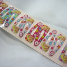 Wholesale 60pcs Barbie Girl Snap Hair Clip 4.5cm (lemon_hole)