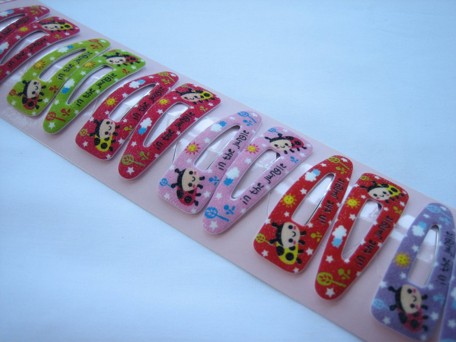 Wholesale 60pcs Ladybug in the jungle Girl Snap Hair 4.5cm Clip (hole)