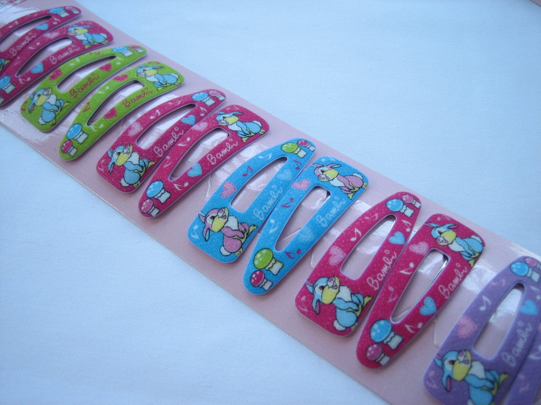 Wholesale 60pcs Mix Design Rabbit Thumber Girl Snap Hair Clip 4.5cm (a)