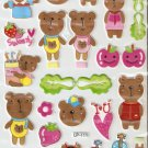 LP111 1 sheet Kawaii Cute Bear Hologram effect Puffy Sticker