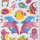LP105 1 sheet Sea Animal Hologram effect Puffy Sticker